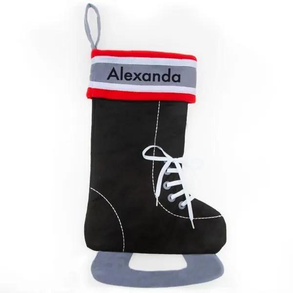 Personalized Christmas Stocking - Hockey Skate
