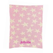 Personalized Baby Blanket - Multi Stars in Pink