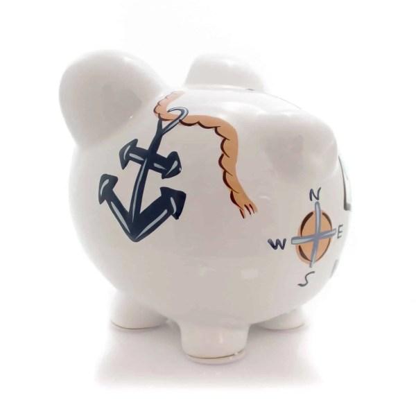 piggy bank - nautical