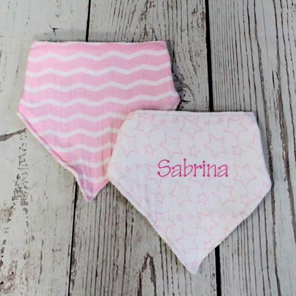 Personalized Baby Bib - Pink