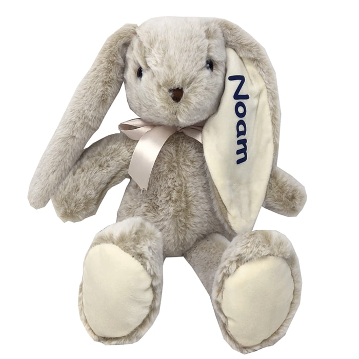 Personalized Stuffed Animal Long Ear Bunny In Beige You Name It