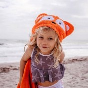 Personalized Hooded Kids Towel - Fox