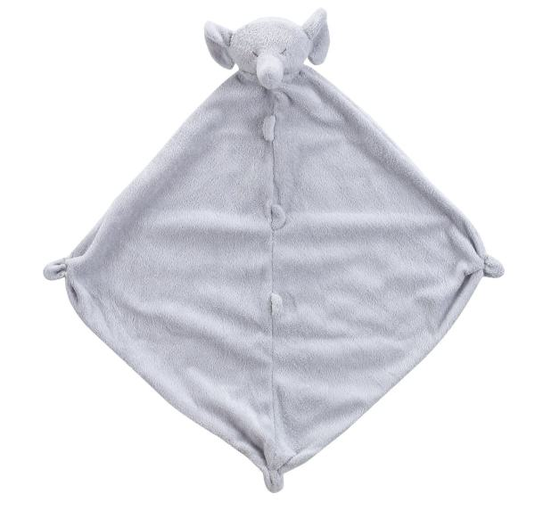 Angel Dear Grey Elephant Lovie Blankie