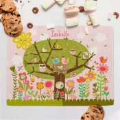Personalized Placemat for Kids - Blooming Birdies