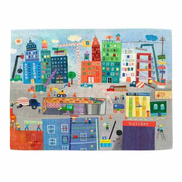 Personalized Placemat for Kids - Construction Non Personalized