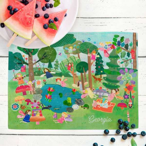 Personalized Placemat for Kids - Forest Fairies
