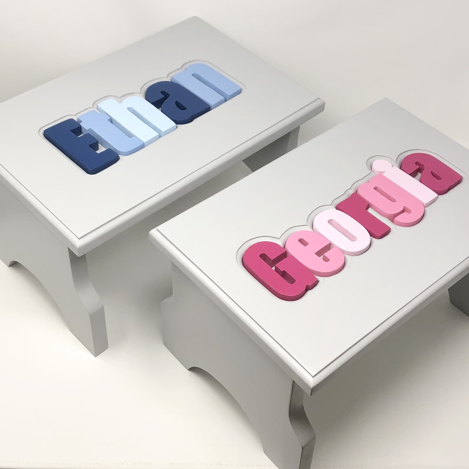 Personalized Puzzle Step Stools Amp Name Stools For Kids