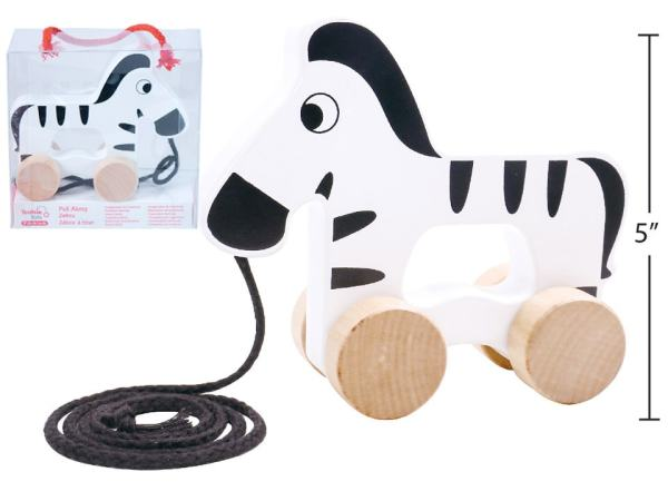 Tooky Toy - Pull Along Zebra
