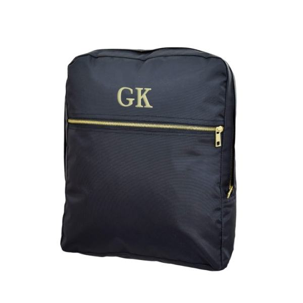 Personalized Kids Backpack - Black Brass