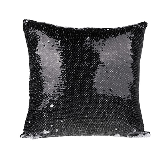 Black Personalized Sequin Pillow