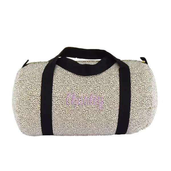Personalized Duffel Bag - Cheetah Seersucker