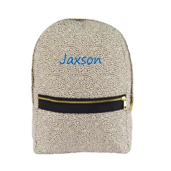 Personalized Kids Bag - Cheetah Seersucker
