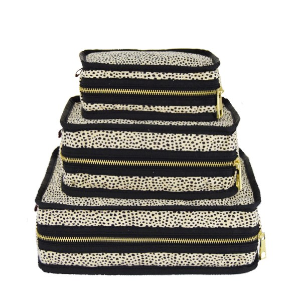Personalized Travel Bags - Stacking Set in Cheetah