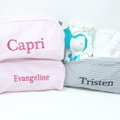 PERSONALIZED BABY TRAVEL BAGS & ACCESSORIES