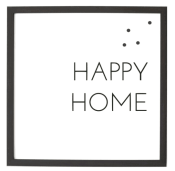 magnet frame - happy home