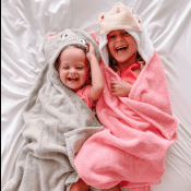 Baby & Kids Hooded Animal Towels with Names