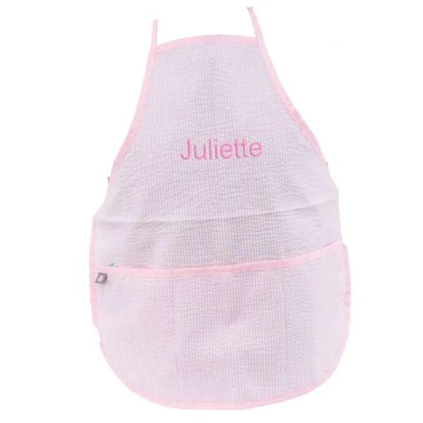 personalized-kids-apron-pink-seersucker