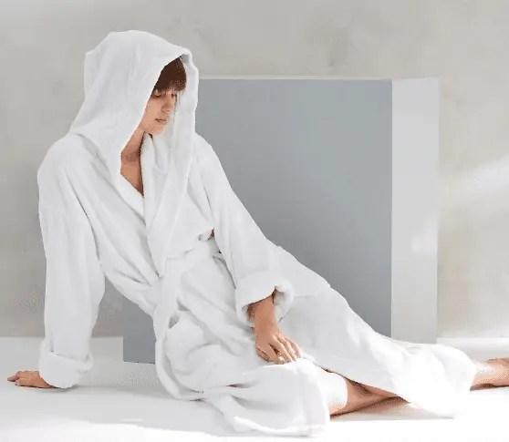 White Contempo Adult Robe