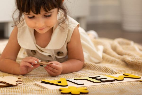 Wooden Name Puzzle - Yellows