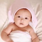 Pink Gingham Hooded Towel