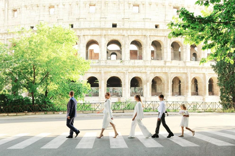 фотосессия в Риме на фоне колизея