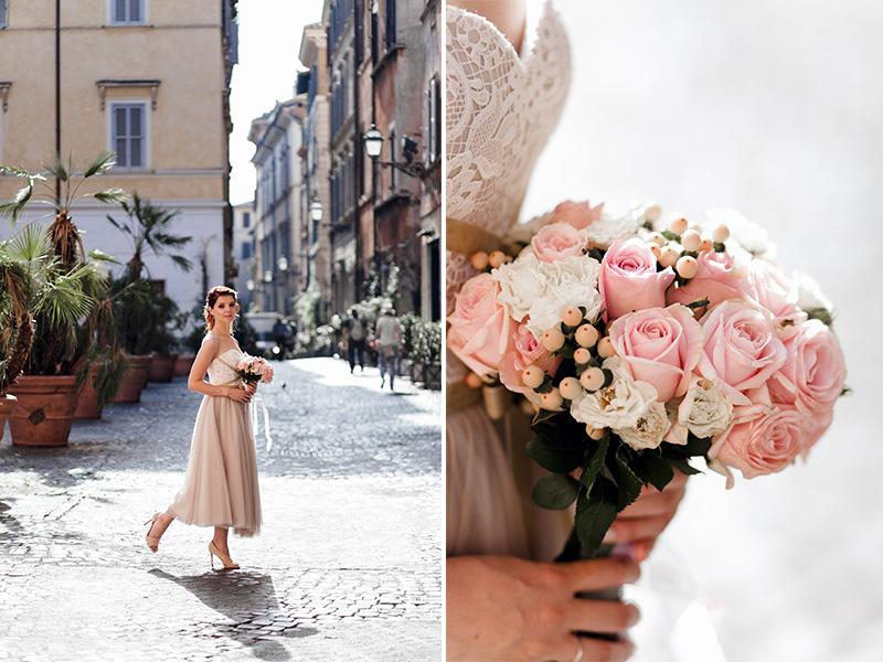 свадебный букет рим