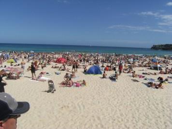 Peak Hour at Bondi Beach