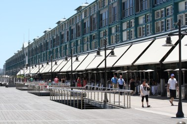Walking along the Finger Wharf