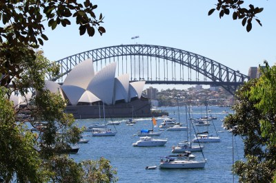 The Sydney Harbour Bridge and the Opera House