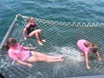 The Boat Ride with a Net Right Over the Sea