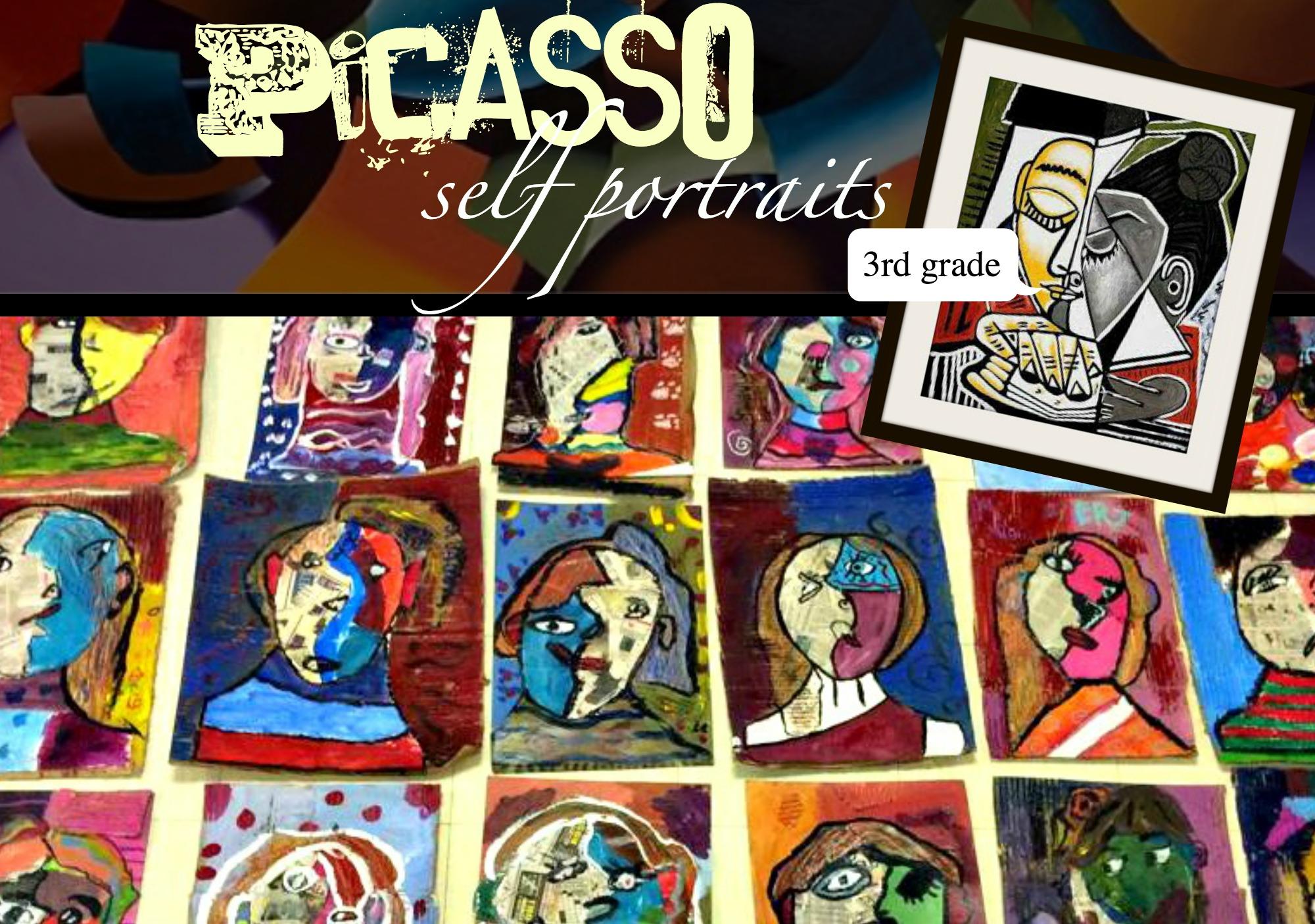 Picasso Self Portraits 3rd Grade