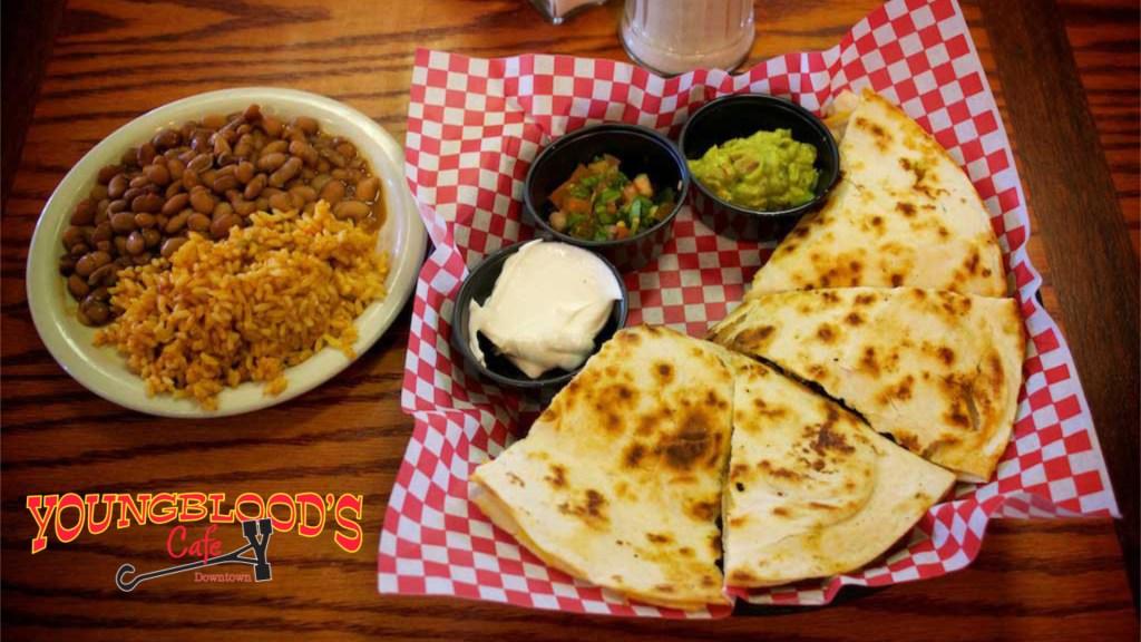 Quesadillas - Youngblood's Cafe - Amarillo, Texas