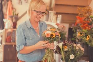 Grace in the flower shop