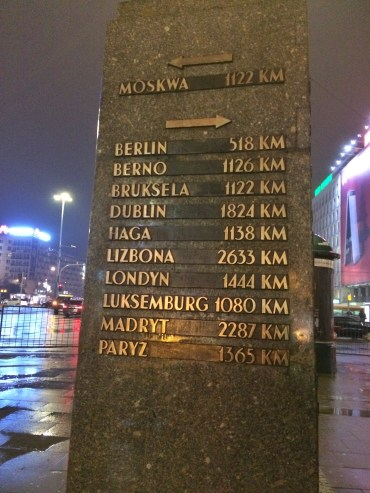 Warsaw location markers