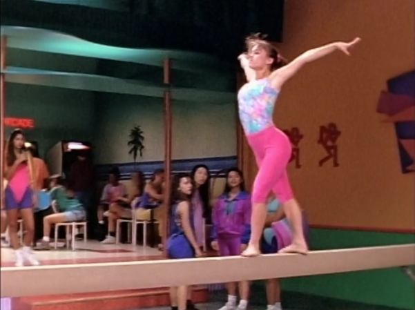 Kimberly on the balance beam