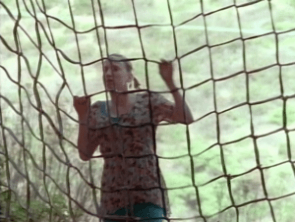 Melissa, thwarted by cargo netting