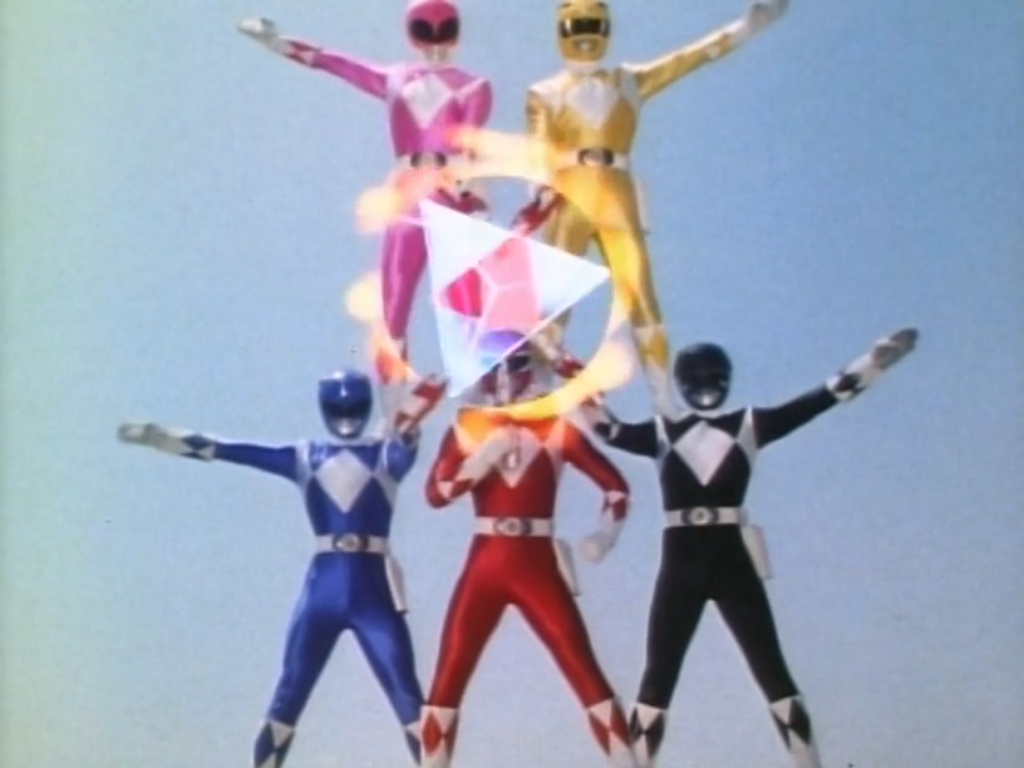 They really need the Green Ranger to complete this human pyramid.