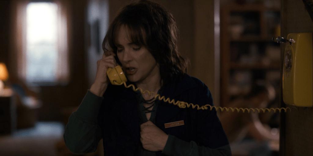Joyce on the phone