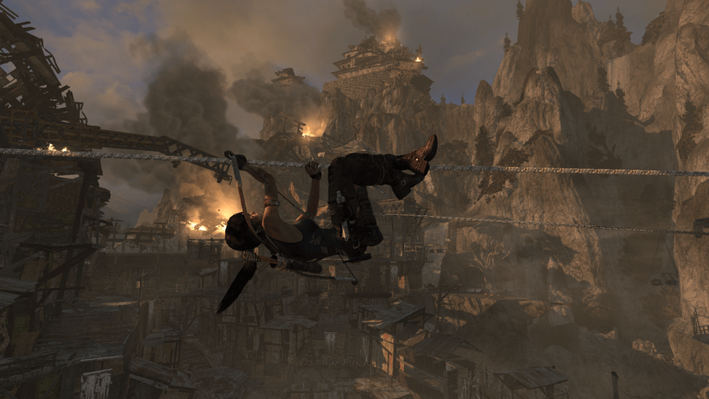 See all that fire in the background? Lara did that.