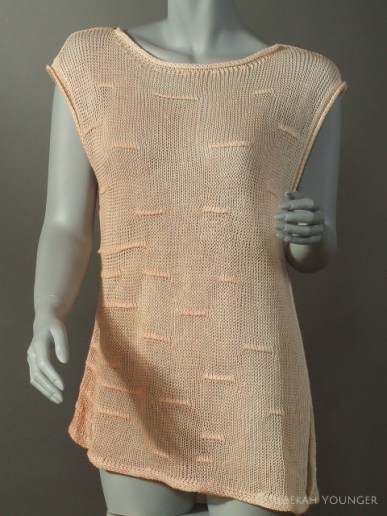 Ruched Linen Dyed Sleeveless Tunic - 1998