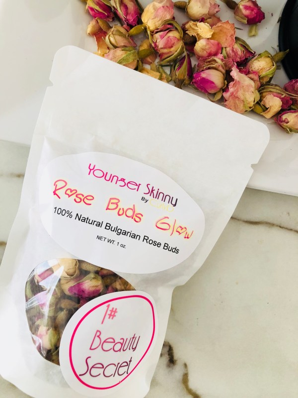 Rose Buds Glow Younger Skinny by Curly D 1