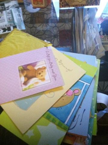 Inside of card keepsake