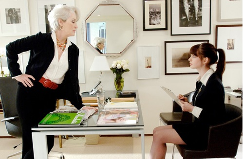 clip from the movie, The Devil Wears Prada