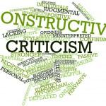 "word cloud of ""constructive criticism"""