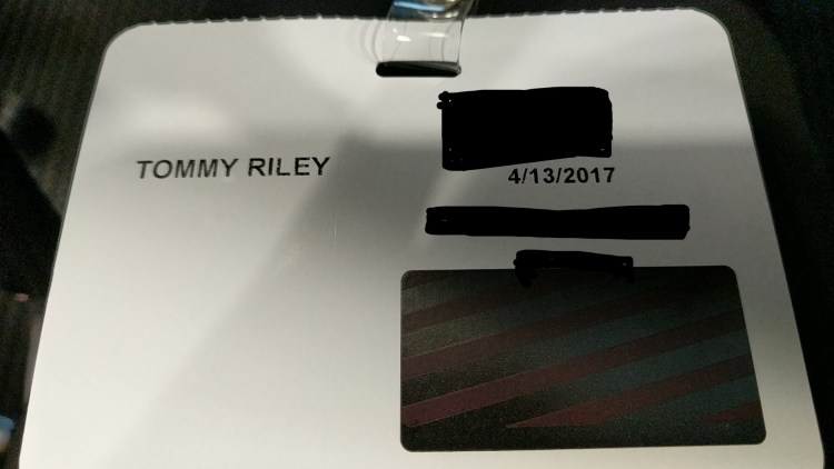 picture of my name badge