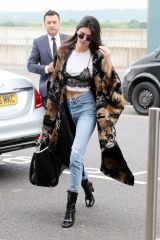 EXCLUSIVE Mandatory Credit: Photo by Beretta/Sims/REX/Shutterstock (5695524k) Kendall Jenner leaving her London hotel and arriving at Heathrow Airport. Kendall Jenner out and about, London, Britain - 27 May 2016
