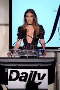 NEW YORK, NY - SEPTEMBER 08: (EXCLUSIVE ACCESS, SPECIAL RATES APPLY) Model Gigi Hadid speaks at The Daily Front Row's 4th Annual Fashion Media Awards at Park Hyatt New York on September 8, 2016 in New York City. (Photo by Larry Busacca/Getty Images)
