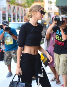 Gigi Hadid Shows Off her Slim Figure and Unshaven Arms as she steps out in NYC Pictured: Gigi Hadid Ref: SPL1353109 130916 Picture by: 247PAPS.TV / Splash News Splash News and Pictures Los Angeles: 310-821-2666 New York: 212-619-2666 London: 870-934-2666 photodesk@splashnews.com