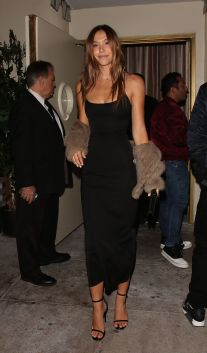 West Hollywood, CA - Model Alexis Ren shows off her tall slender figure in a thin strap black dress, as she celebrates her 20th birthday with a party with friends and family at LA hot spot Delilah. AKM-GSI November 22, 2016 To License These Photos, Please Contact: Maria Buda (917) 242-1505 mbuda@akmgsi.com sales@akmgsi.com or Mark Satter (317) 691-9592 msatter@akmgsi.com sales@akmgsi.com www.akmgsi.com
