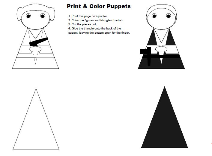 FINGER PUPPET colouring pages (page 2)